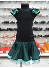 Dance Me Блуза детская BL337-5, масло / сетка, черный / мятный