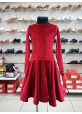 Рейтинговое платье 420-13ДР-Кр Dance.Me, бархат, красный