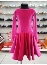 Рейтинговое платье 420-13ДР-Кр Dance.Me, бархат, малиновый