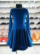 Рейтинговое платье 420-13ДР-Кр Dance.Me, бархат, морская волна