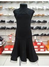 Dance Me Платье детское PL163-4, масло / кружево, черный