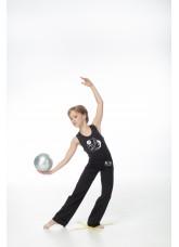 DANCEME Брюки BR224-7 с рисунком Мяч, хлопок, черный