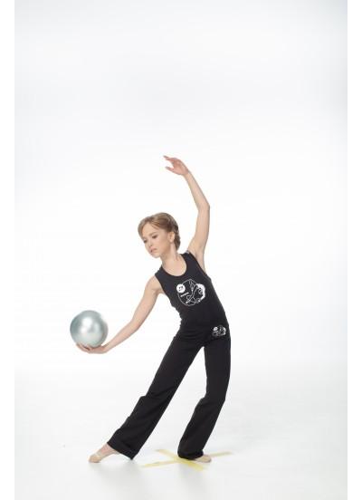 Детские брюки DANCEME BR224-7 с рисунком Мяч черного цвета, материал хлопок