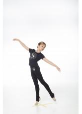 DANCEME Лосины детские L253-7 с рисунком Лента, хлопок, черный