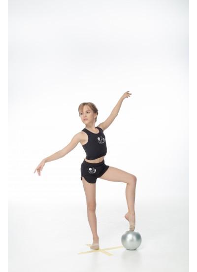 DANCEME Шорты SH604-7 детские с рисунком Мяч, хлопок, черный