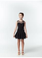 Dance Me Блуза детская БЛ335, масло / сетка черный