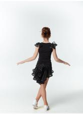 DANCEME Юбка для девочки UL48-3, масло / сетка, черный / серый