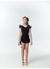 Dance Me Блуза детская BL337-3, масло / сетка, черный / смородина