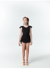 DANCEME Блуза детская BL337, масло / сетка черный