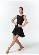 Dance Me Блуза женская BL489, масло / сетка, черный