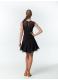 DANCEME Юбка женская для латины UL711-14#, масло / кринолин, черный