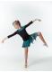 Детская юбка для латины DANCEME UL359-3 масло / сетка, черный / голубой