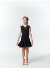 Dance Me Блуза детская BL489, масло / сетка черный