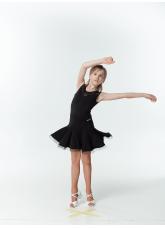 DANCEME Юбка для латины UL711-14# детская, масло / кринолин, черный