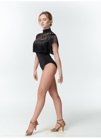 Dance Me Купальник женский K504-11, масло+гипюр, черный