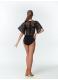 Dance Me Купальник женский 457-11, масло+гипюр, черный