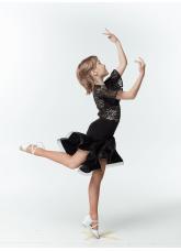 Dance Me Юбка для латины UL213-8-14# детская, масло криналин, черный