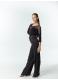 Блуза женская БЛ153-17 Dance.me, масло+сетка, черный
