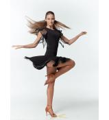 Dance Me Блуза женская BL24-16, масло / сетка, черный