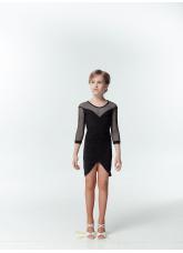 DANCEME Платье детское PL715-17, масло / сетка, черный