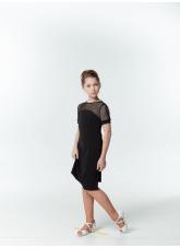 DANCEME Платье детское PL703-17, масло / сетка, черный