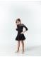 Dance Me Блуза детская BL411DR-17, масло / сетка черный
