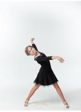 DANCEME Юбка для латины UL638-14# детская, масло криналин, черный
