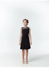 Dance Me Блуза детская БЛ119-17, масло / сетка, черный