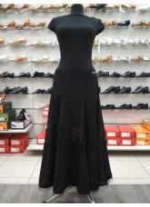 DANCEME Юбка для стандарта US 358-20# женская, масло / сетка, черный