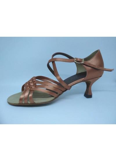 Dance Me Обувь женская для латины 4212, кирпичный сатин