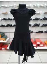 Dance Me Блуза для девочки BL336-19, масло / сетка, черный