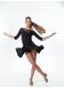 Dance Me Юбка женская для латины UL414#, масло / кринолин, черный