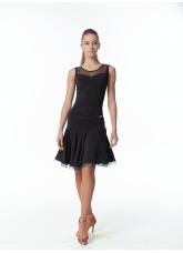 Dance Me Блуза женская БЛ335, масло / сетка черный