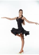 Dance Me Юбка женская для латины UL395#, масло / кринолин, черный