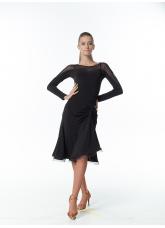 Dance Me Блуза женская БЛ152, масло / сетка, черный