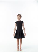Платье Латина PL487# детское DANCEME, масло+сетка+креналин, черный