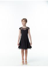 Платье Латина PL334-6# Dance.me, Украина, Масло+сетка, Черный