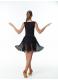 Dance Me Юбка для латины UL714# женская, масло гипюр криналин, черный
