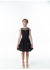 Dance Me Блуза детская БЛ335-17, масло / сетка, черный