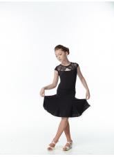 Dance Me Платье детское PL163-4#, масло / кружево, черный