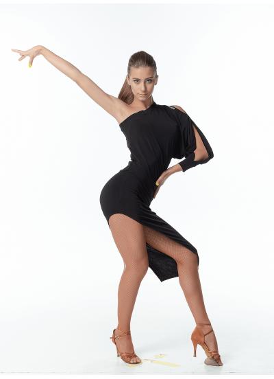 Dance Me Платье женское PL169, масло, черный