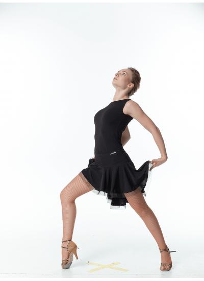 Dance Me Юбка для латины ЮЛ207-Кр женская, масло, черный
