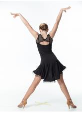 Блуза БЛ351-17 Dance.me, Украина, Масло+сетка, Черный