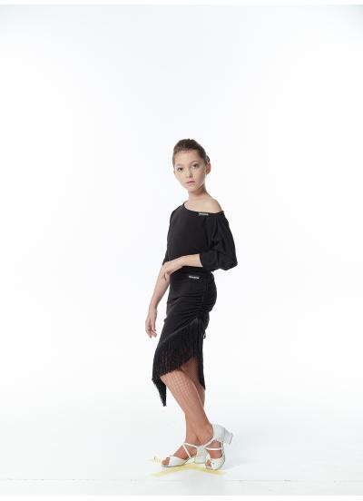 Dance Me Блуза детская БЛ241, масло / черный
