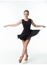 Платье Латина женское PL140-19# DANECEME, масло+сетка+креналин, черный