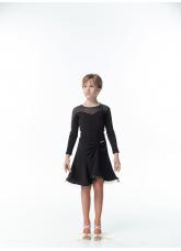Dance Me Блуза детская БЛ152, масло / сетка, черный