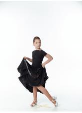 Dance Me Блуза детская БЛ396, масло , черный