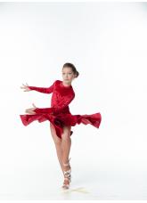 Бейсик BS513DR-13С# Dance.me, Украина, бархат, красный