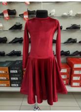 Рейтинговое платье BS420DR-13А# DANCEME, бархат, кринолин, красный