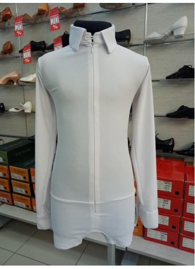 DANCEME Рубашка R408, белый бифлекс